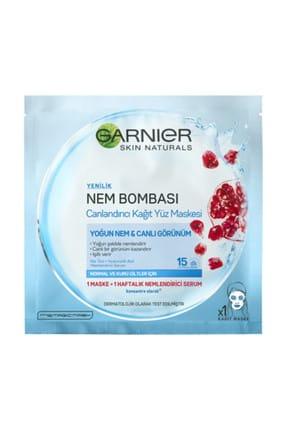 Garnier Nem Bombası Nar Canlandırıcı Kağıt Maske