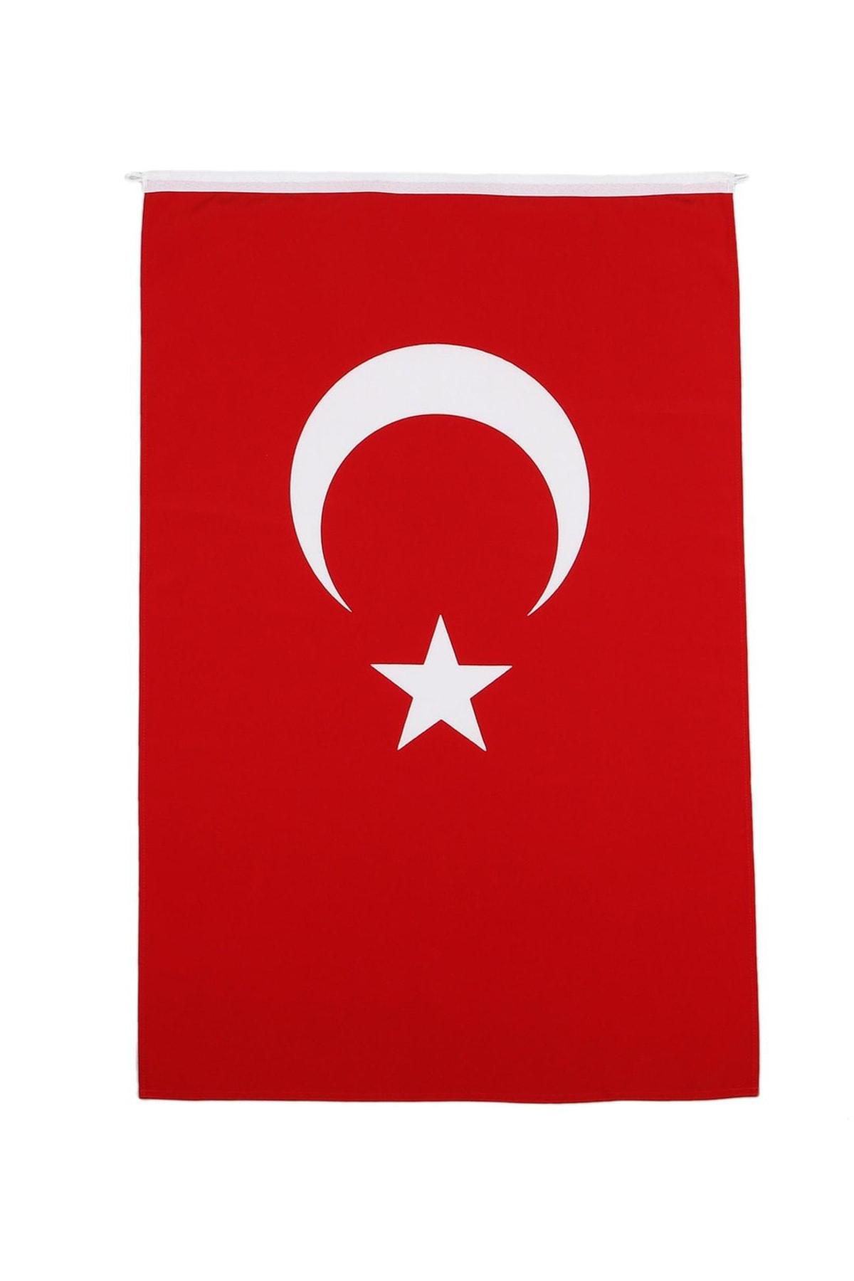 bayrakal Türk Bayrağı Alpaka Kumaş 80x120cm. 1