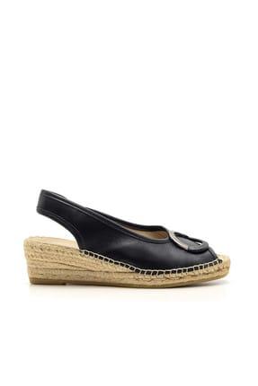 Derimod Hakiki Deri Kadın Lacivert Sandalet
