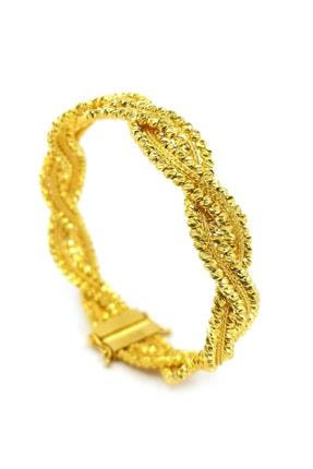 Safir Kuyumculuk Kadın Hasır Kelepçe Altın Bilezik BL09800