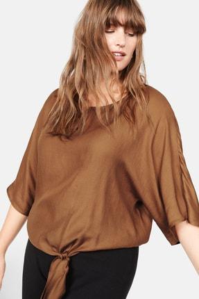 Violeta by MANGO Kadın Orta Kahverengi Bluz 57015787