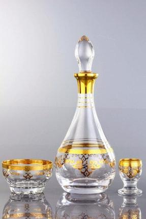 AbkaKristal 8 Parça Zemzem Takımı - İpek Altın