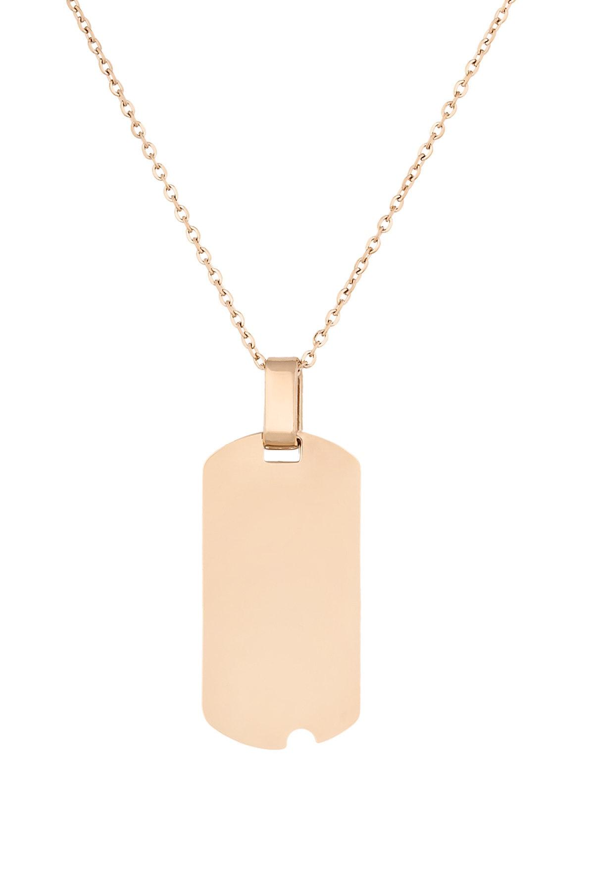 Cocco Kadın Altın Renkli Çelik Künye Kolye CC30009