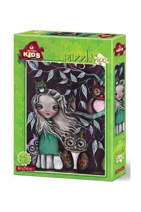 Anatolian Puzzle 200 Parça Baykuş Ailesi Fantastik Çocuk Puzzle 4538