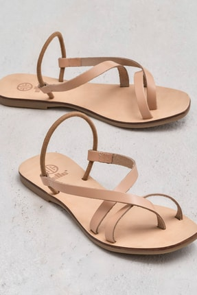 Elle Shoes ANIYA Hakiki Deri Naturel Kadın Sandalet