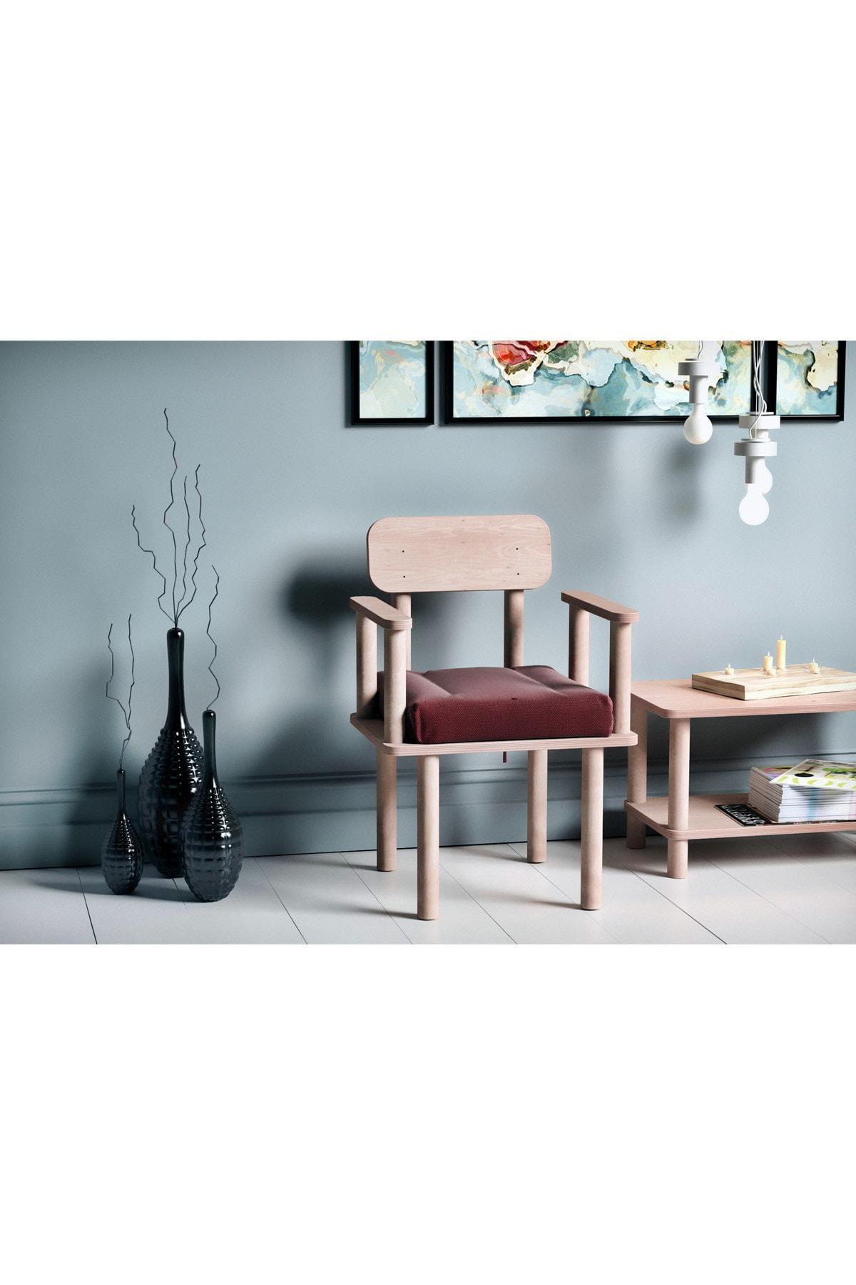 VUDIVA Magnesia Kolçaklı Sandalye Bordo