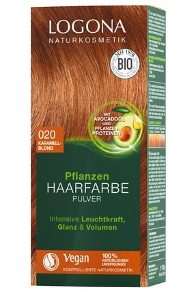Logona Bitkisel Toz Saç Boyası - 020 Karamel Sarısı 100G