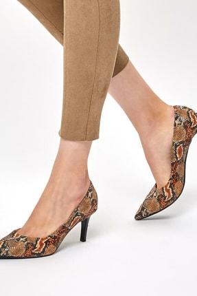 Miss F DW19002 Yılan Rengi Kadın Topuklu Ayakkabı 100439645
