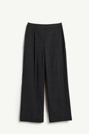 Yargıcı Kadın Siyah Önü Katlamalı Pantolon 9KKPN3108B
