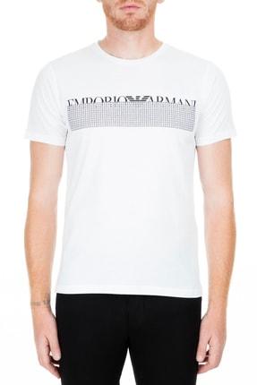 Emporio Armani Beyaz Erkek T-Shirt S 3G1T6W 1JQ4Z 0100