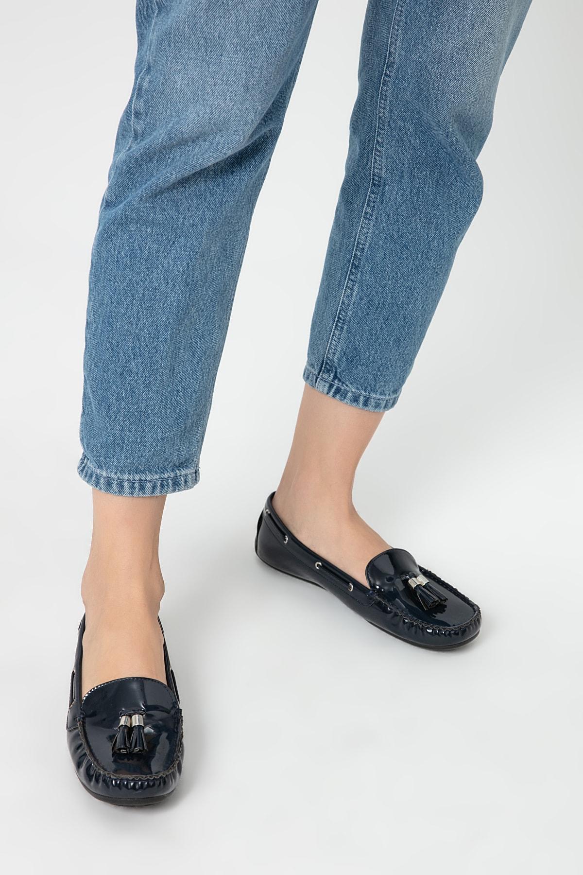 Derimod Lacivert Kadın Loafer Ayakkabı 1