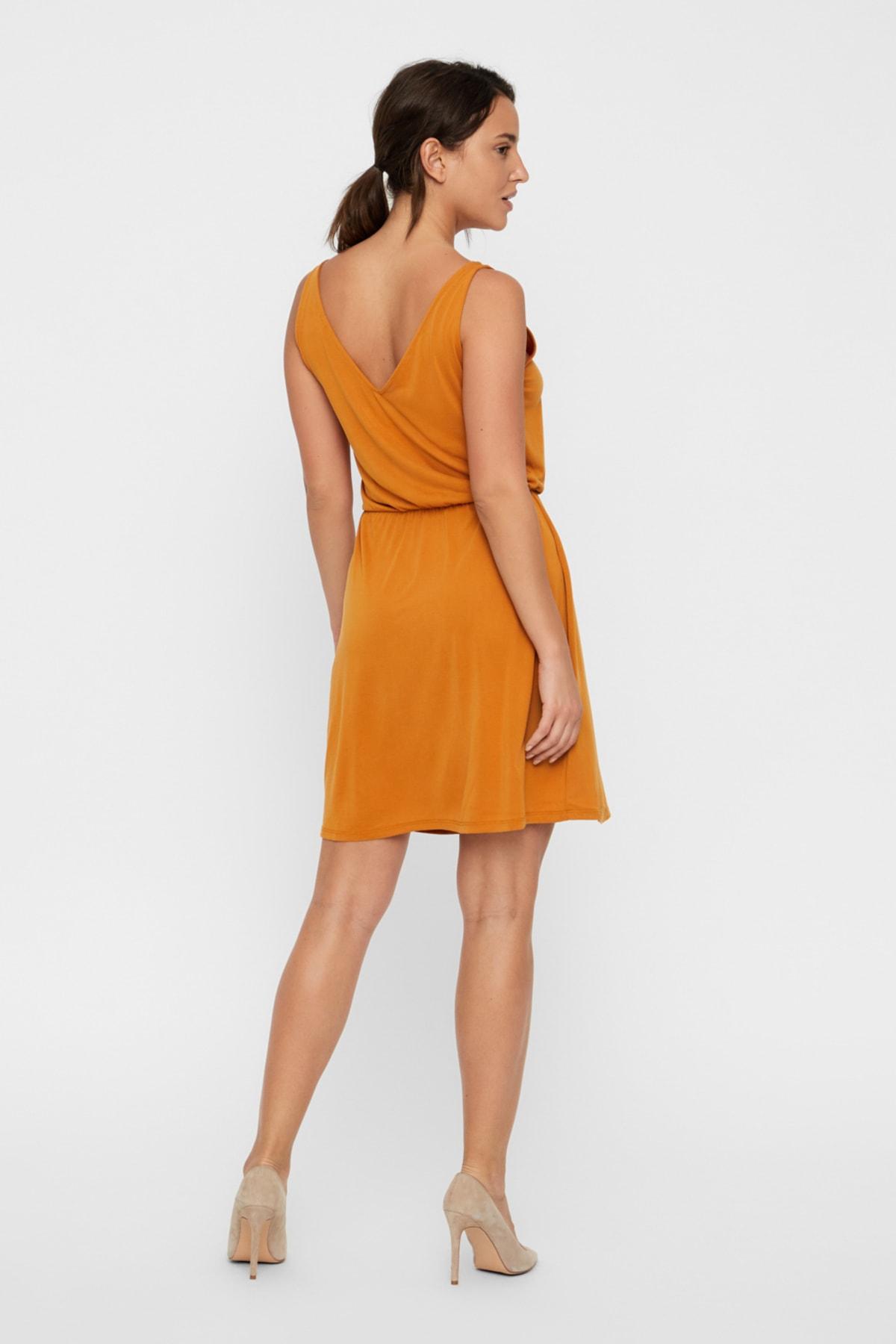 Vero Moda Kadın Taba Elbise 10221798 VMSAGI 2