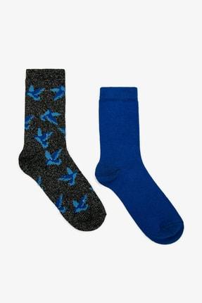 Koton Kadın Mavi 2'Li Çorap 0KAK81210AA