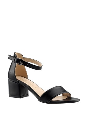 Ayakland Siyah Kadın Topuklu Ayakkabı 18A03178