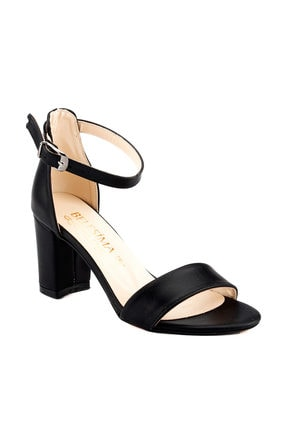 Ayakland Siyah Kadın Topuklu Ayakkabı 18A02159
