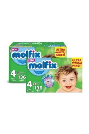 Molfix Bebek Bezi 7-14 Kg Ultra Avantaj Paketi Maxi 4 Beden 272 Adet