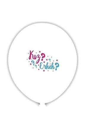 Happyland 12 Adet Cinsiyet Belirleme Öğrenme Partisi Balonları Bebek Balonu