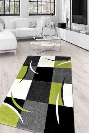 Merinos Oda Halı 120x170 Diamond Sv 665 940 Yeşil Beyaz Siyah