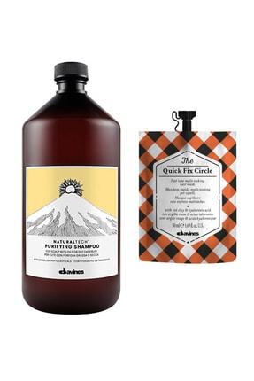 Davines Purifying Kepeğe Karşı Arındırıcı Şampuan 1000 ml + The Quick Saç Bakım Maskesi 50 ml 2840095040815