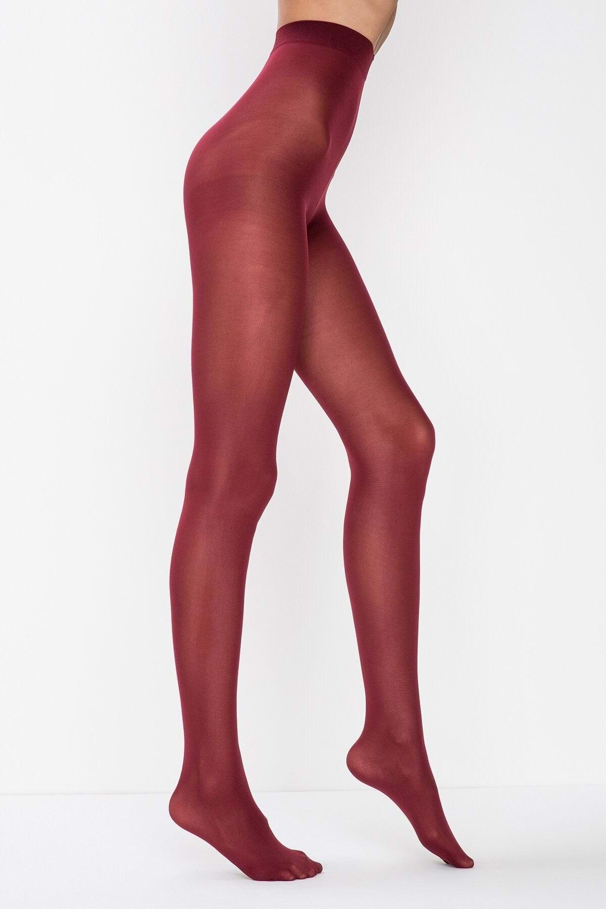 Penti Kadın Bordo Mikro 40 Külotlu Çorap
