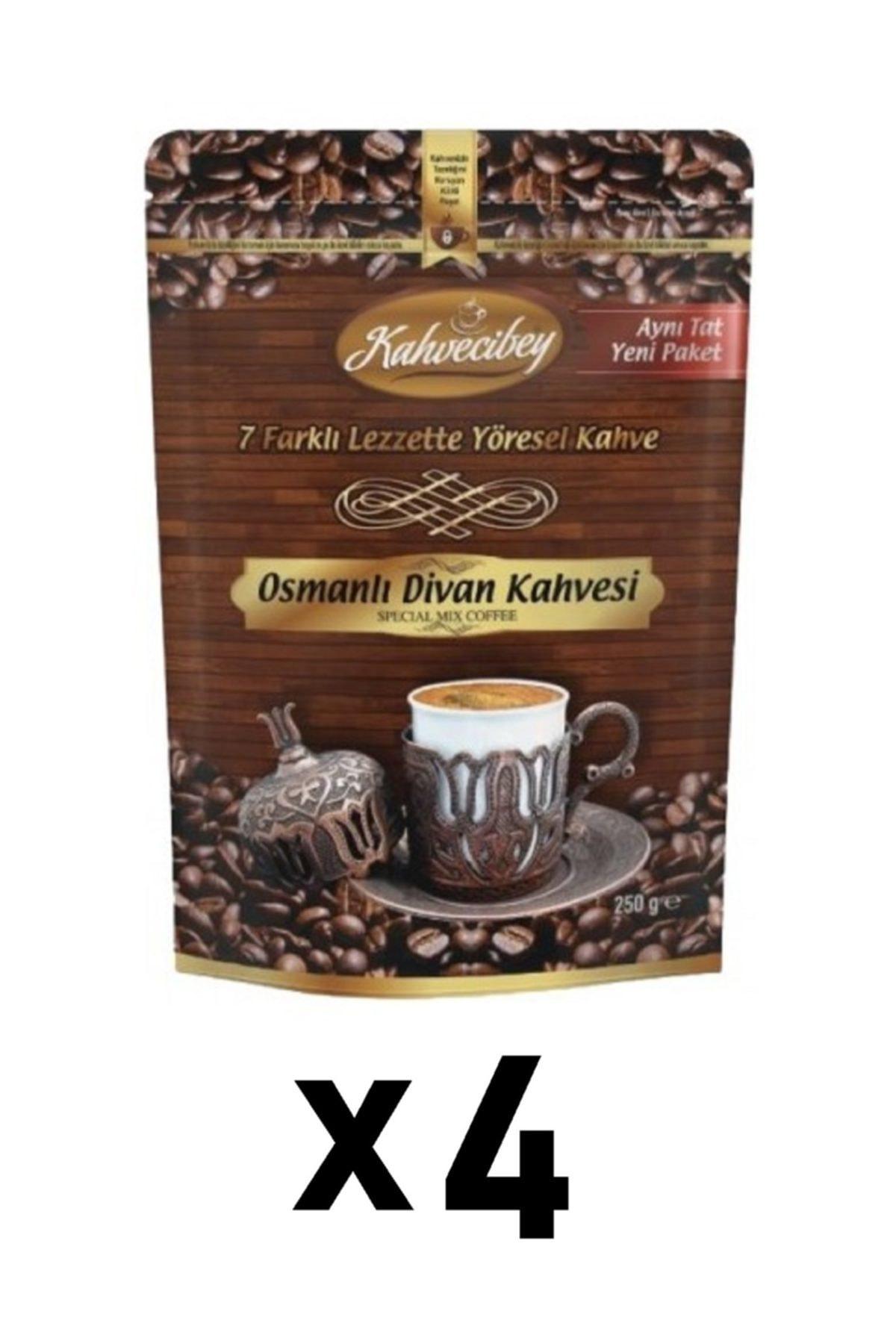 Kahvecibey Osmanlı Divan Kahvesi 7 Karışımlı 4'lü Set - 250 gr 1