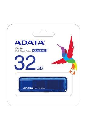 Adata 32GB UV110 MAVİ USB2.0 BELLEK