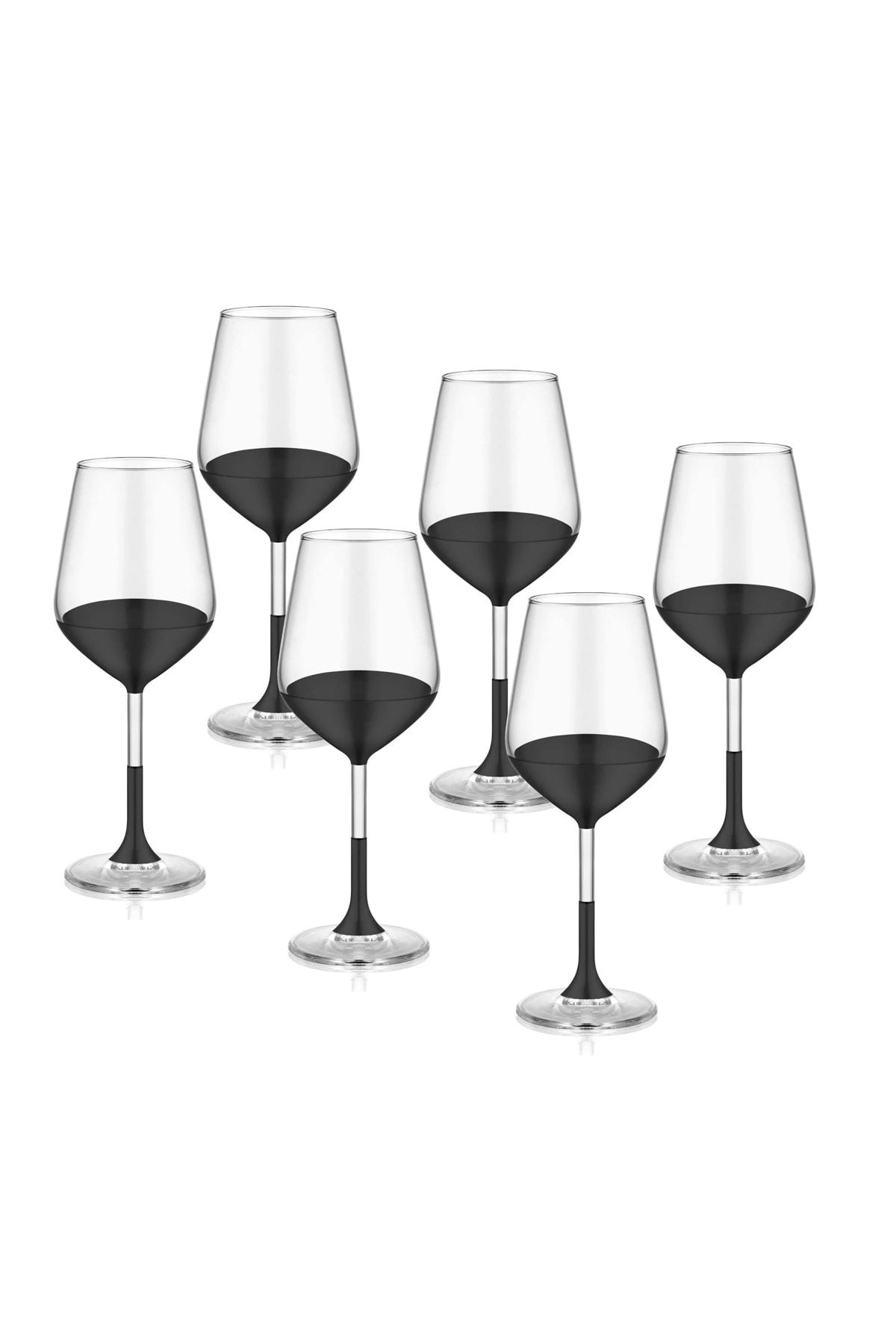 The Mia Dark Şarap Kadehi 6'lı Set 1
