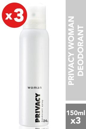 Privacy Women 3'lü Deodorant (3x150 ml )