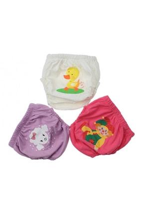 Story Baby Kız Bebek Çocuk Desenli Sevimli 3 lü Alıştırma Külodu Bebek Bezi Sızdırmaz Antialerjik 035-60155-003