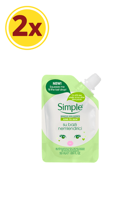 Simple Kind To Skin Mini Su Bazlı Nemlendirici 50 Ml X2