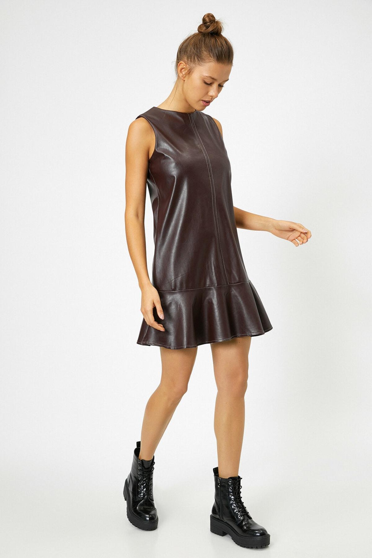 Koton Kadın Bordo Elbise 0KAL88412IW 2