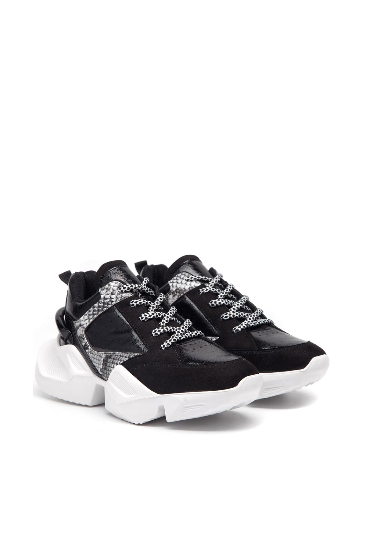 Jeep Siyah Kadın Spor Ayakkabı 9K2SAJ0141 2