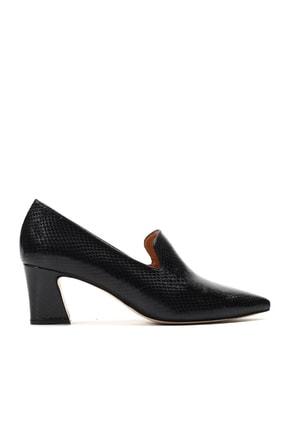 Hotiç Hakiki Deri Siyah Kadın Klasik Topuklu Ayakkabı 01AYH157230A100