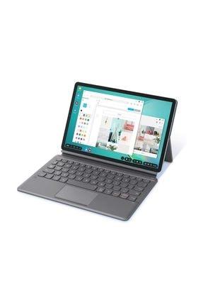 Samsung Galaxy Tab S6 Türkçe Klavyeli Kılıf (Gri)