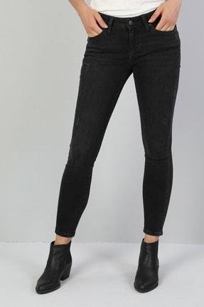 Colin's KADIN 757 Sally Süper Düşük Bel Dar Paça Super Slim Fit Koyu Gri Kadın Jean Pantolon CL1046977