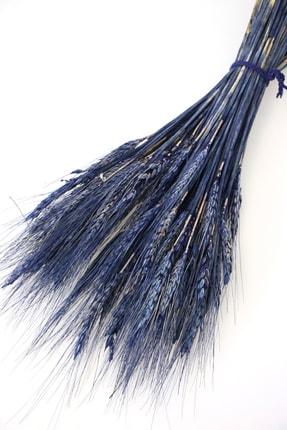 Yapay Çiçek Deposu Kuru Başak Demeti Deniz Mavisi