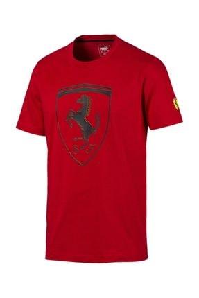 Puma Scuderia Ferrari Big Shield Tee Erkek Tişört