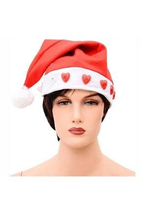 Partici Kalp Işıklı Noel Baba Şapkası
