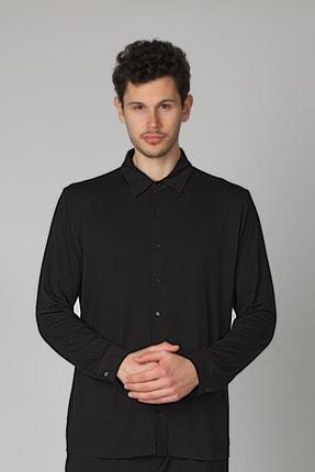 Hays Erkek Siyah Gömlek Pijama Üstü