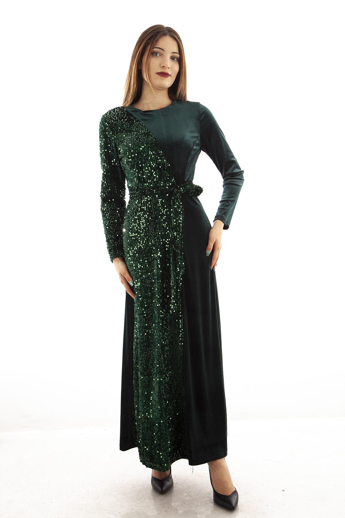 Ardanewline Kadın Zümrüt Abiye & Mezuniyet Elbisesi 3670010