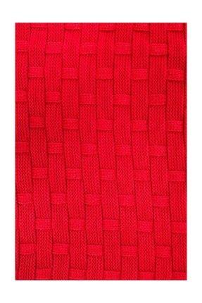 Ocean Kırmızı Triko Örme Koltuk Battaniyesi