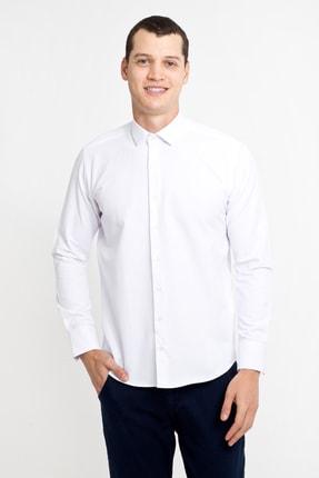 Kiğılı Uzun Kol Desenli Slim Fit Gömlek