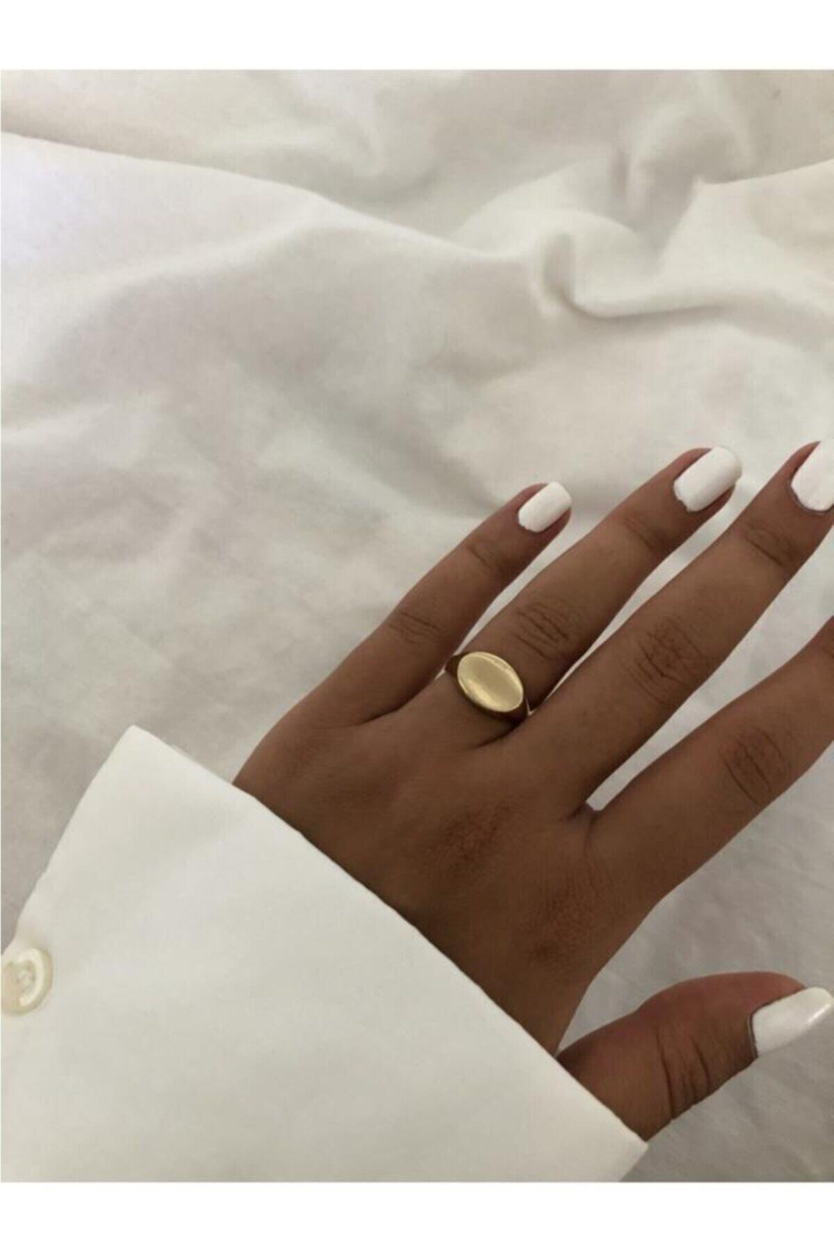 The Y Jewelry Kadın Altın Şövalye Yüzük 2