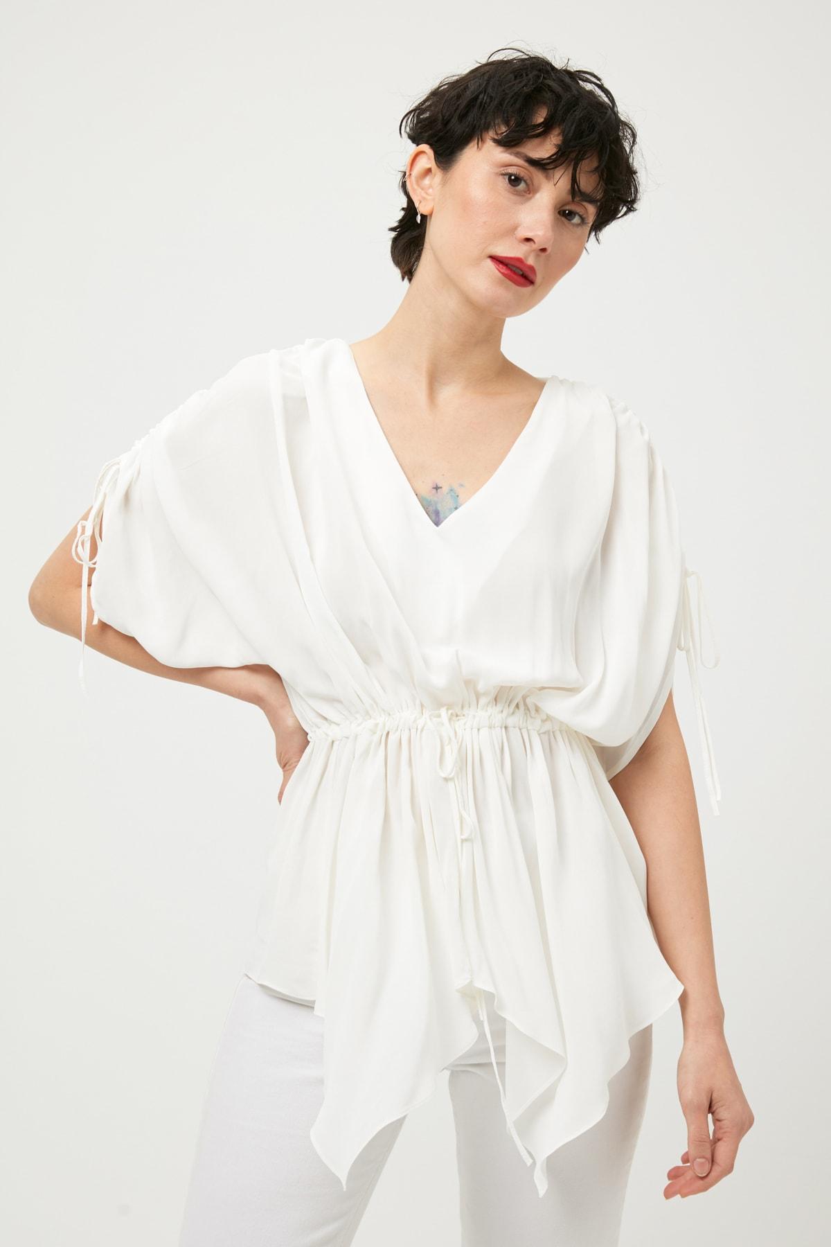 İpekyol Kadın Beyaz Bluz IS1190006471 2
