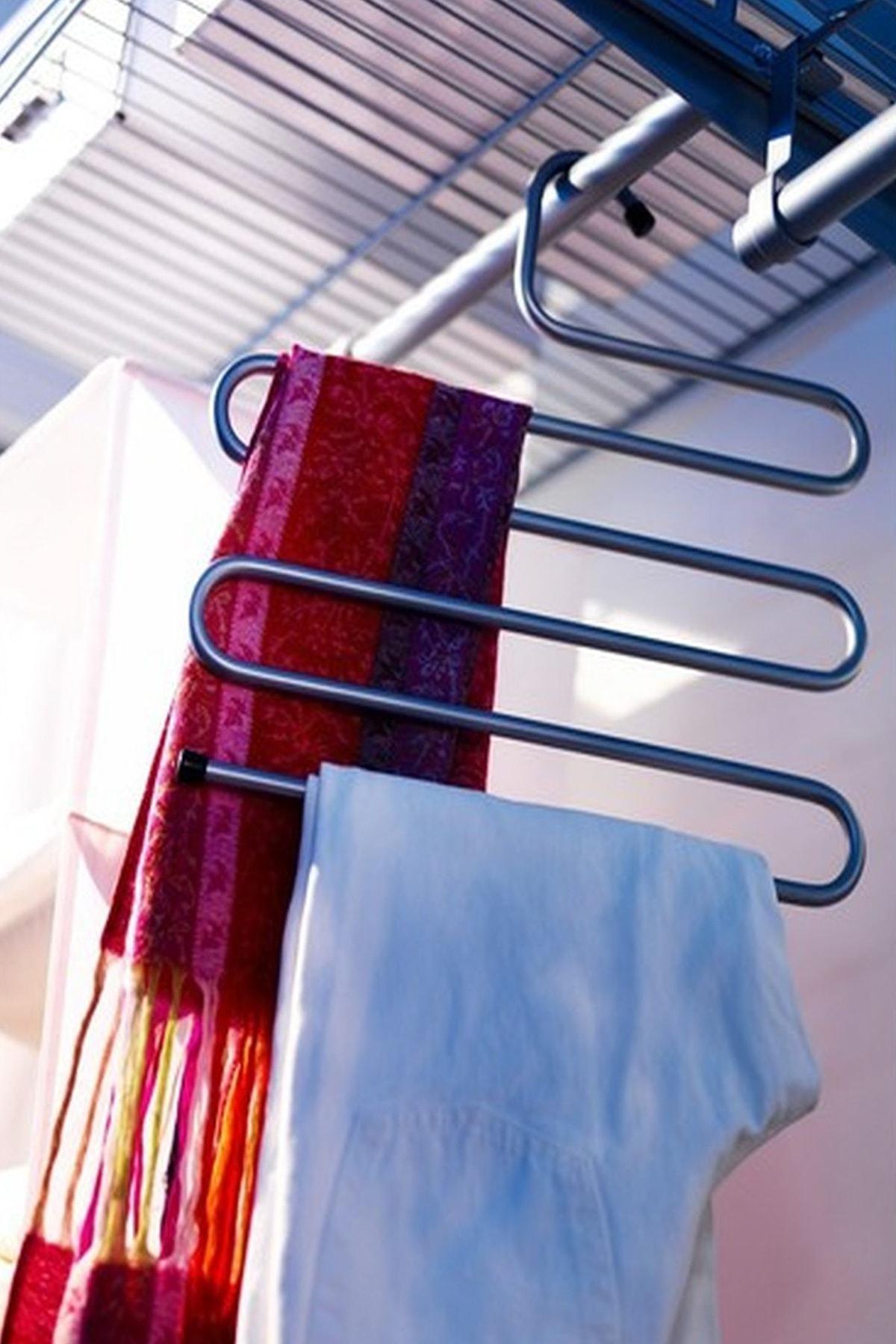 Helen's Home 5 Katlı Metal Pantolon Eşarp Askısı 2