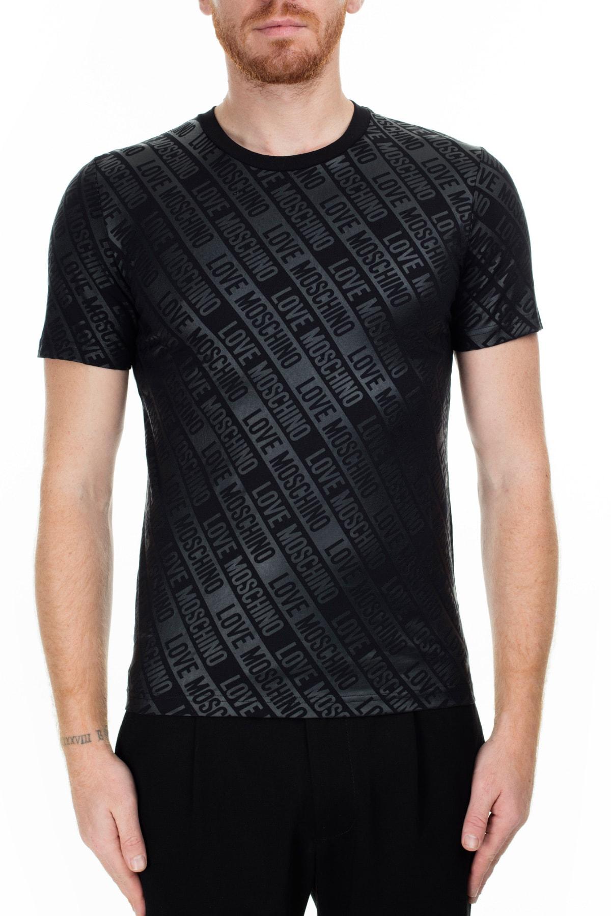 Love Moschino Erkek Siyah T-Shirt S M473100E2013 0017 1