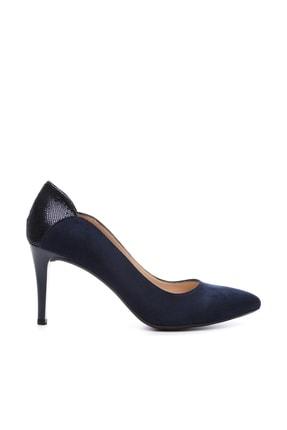 KEMAL TANCA Lacivert Kadın Vegan Klasik Topuklu Ayakkabı 723 001 BN AYK Y19