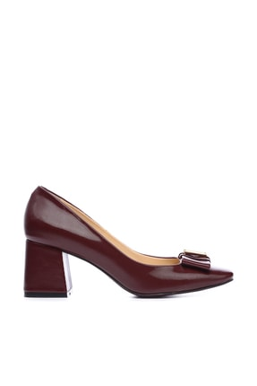 KEMAL TANCA Bordo Kadın Vegan Klasik Topuklu Ayakkabı 22 619 BN AYK