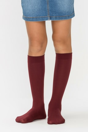 Penti Kadın Bordo Pretty Mikro 40 Pantolon Çorabı