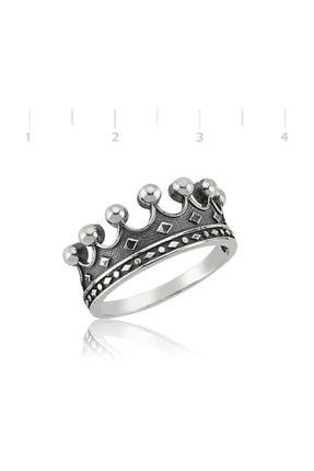 Gumush Gümüş Kral Tacı Yüzük